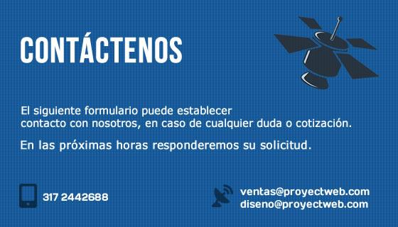 Formulario de Contacto - Proyectweb