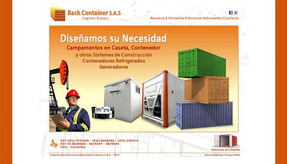 Diseño Web Back Container SAS