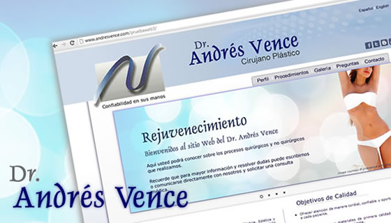 Diseño web Andrés Vence