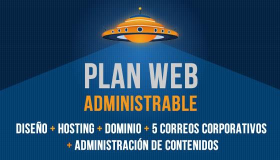 Plan diseño web administrable