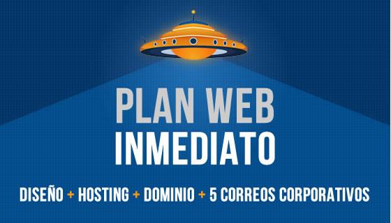Plan diseño web inmediato
